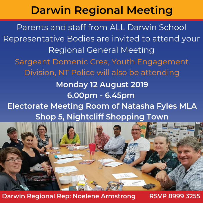 Darwin Regional General Meeting - Term 3