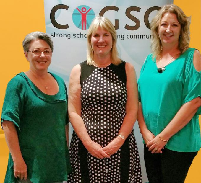 CE, Vicki Baylis, Minister for Education, Eva Lawler and NT COGSO President Tabby Fudge at the NT COGSO Annual Full Council & AGM 2017