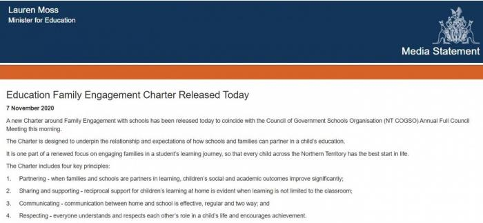 Media Release Lauren Moss, Minister for Education